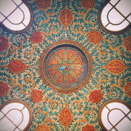 floral printed ceiling photo