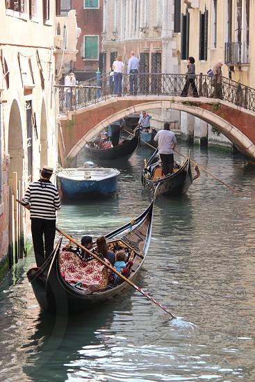 """bridge little bridge """"calle"""" Venezia Italy gondola photo"""