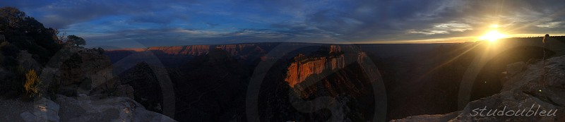 Sunset over Grand Canyon.  photo