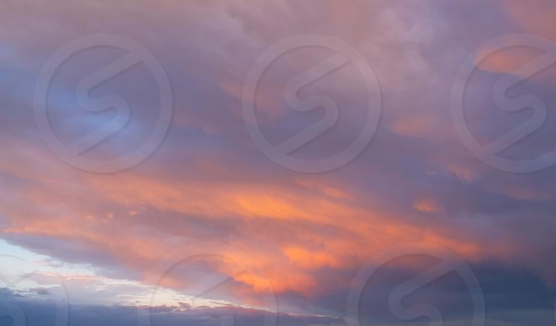 Sunset sky colors photo