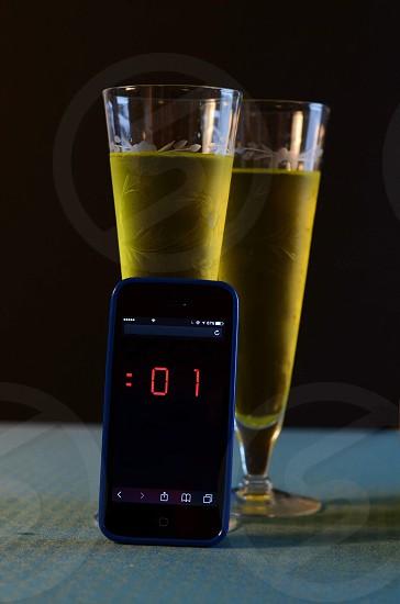 New year cheers champagne countdown toast  photo