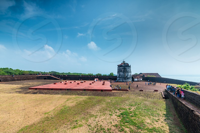 Fort Aguada at Condolim area of Goa is a world unesco heritage site photo
