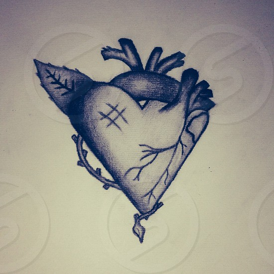 Heart drawing photo