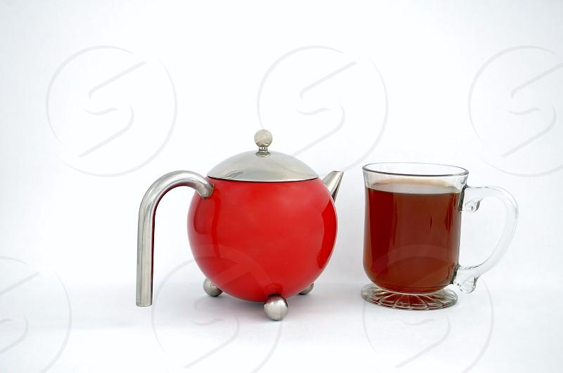 Teapot and mug photo