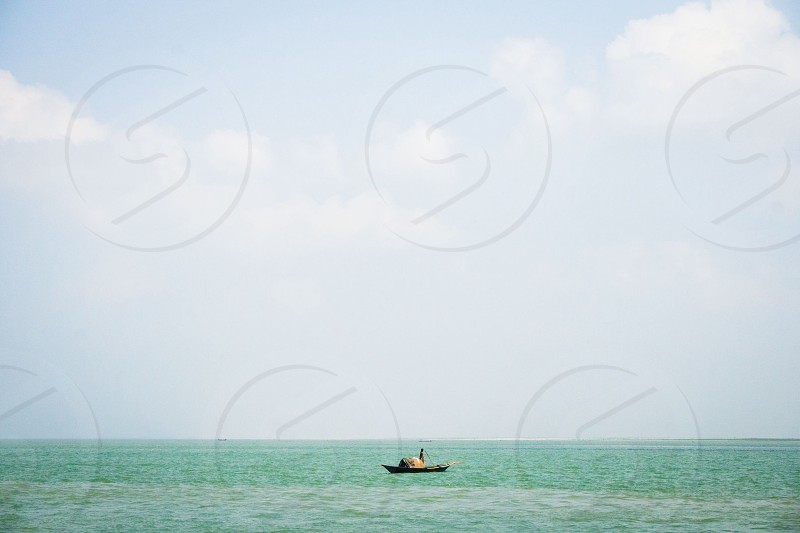 Lonely boat photo