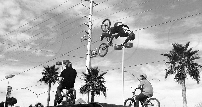 Dangerous bike stunts photo