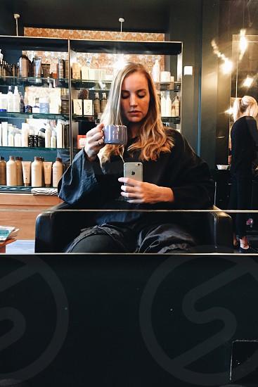 Hair dressers salon tea photo