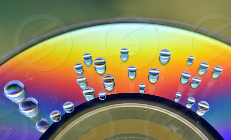 water droplets on cd photo