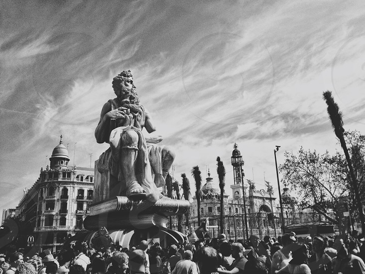 Las Fallas in Valencia Spain photo
