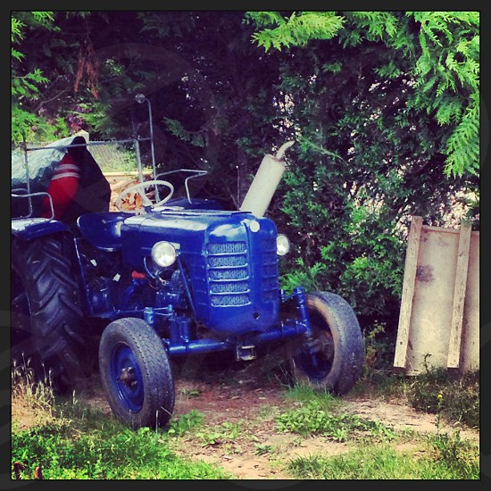 Blue French Tractor photo