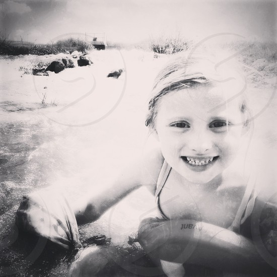 River time in Texas B/W photo