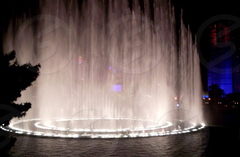 light and water spray display photo