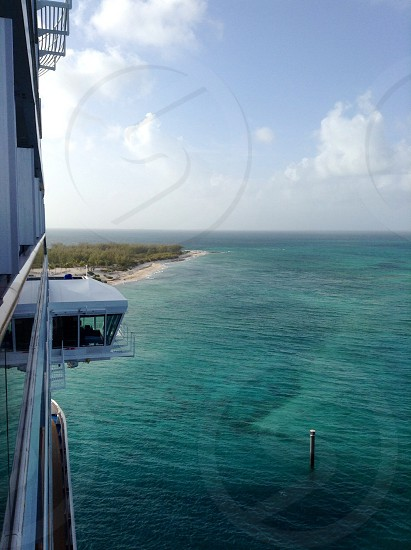 Grand Turk from the lido deck of the Carnival Breeze. photo