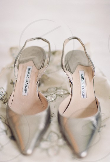 Manolo Blahnik wedding shoes. photo