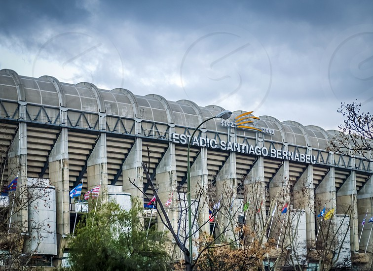 Madrid Spain february 2010: Exterior of the Santiago Bernabeu stadium in Madrid the home of Real Madrid soccer team photo