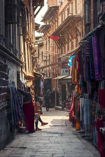 Street of Bhaktapur Kathmandu Nepal photo
