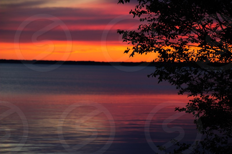 Sunset at High Cliff State Park photo