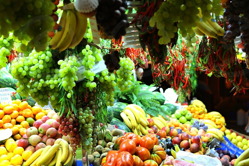 Grocery shopping  fruits  shop colorful   photo