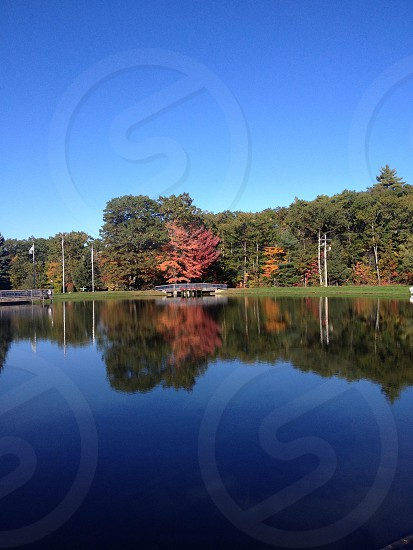 Fall foliage MA reflections water colorful   photo