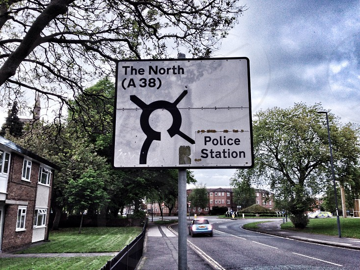 the north a 38 police station street signage photo