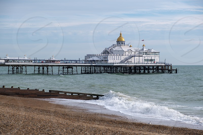 EASTBOURNE EAST SUSSEX/UK - NOVEMBER 4 : View of Eastbourne Pier in East Sussex on November 4 2018 photo
