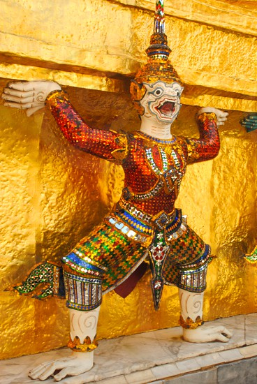 view of a religious multi colored figurine photo