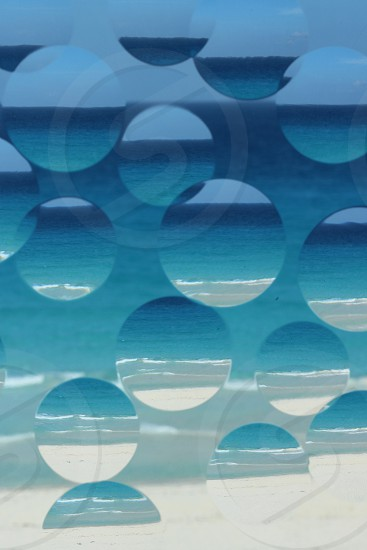 Transparency repetition beach photo