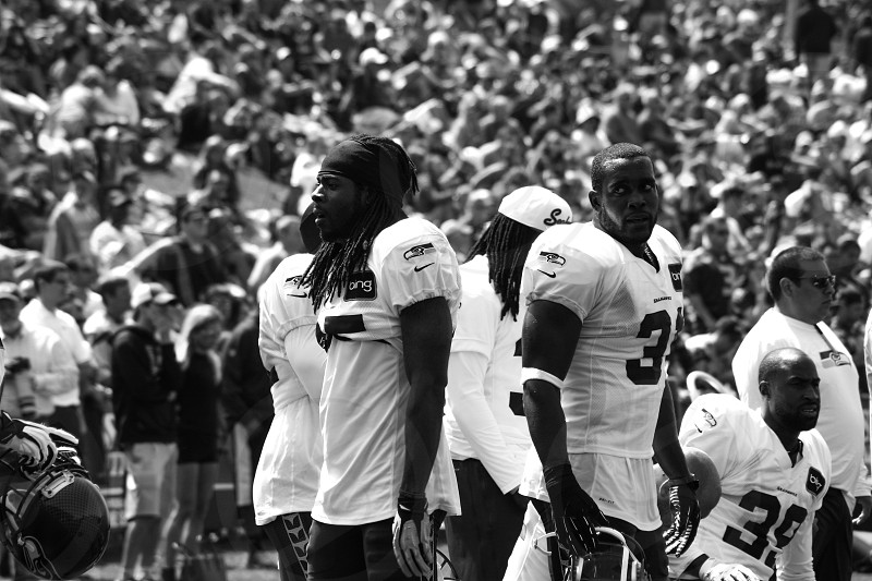 Kam Chancellor and Richard Sherman at Seattle Seahawks training camp at the VMAC [taken: august 2013 as guest instagrammer for Seattle Seahawks] photo