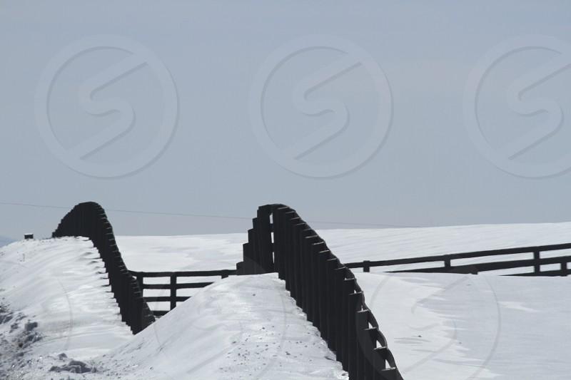 Snow on the farm.  Post-Winter Storm PAX (2014).  Clarke County VA. photo