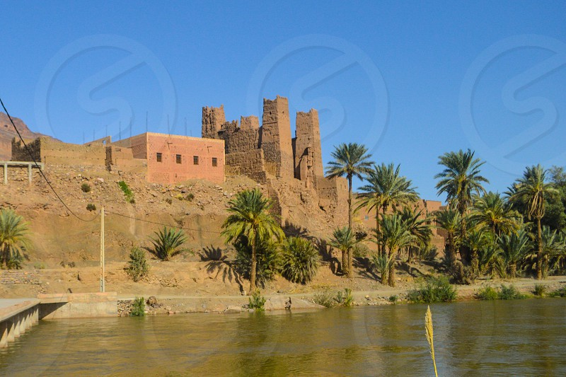 Shots of the old town of Agdz Southeastern Morocco. photo