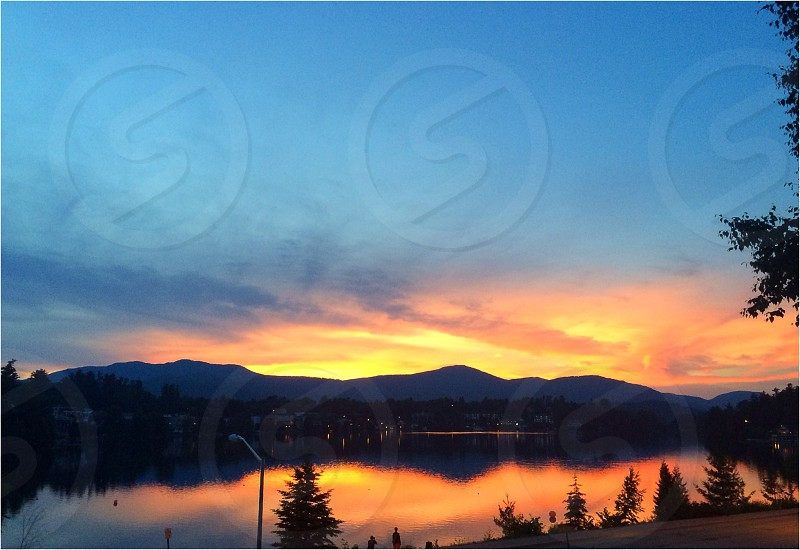Sunset in Lake Placid NY photo