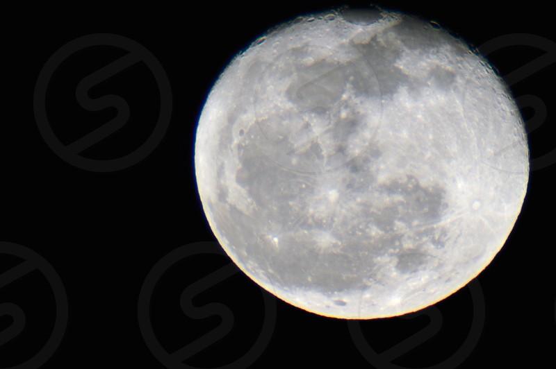 Moon closeup photo