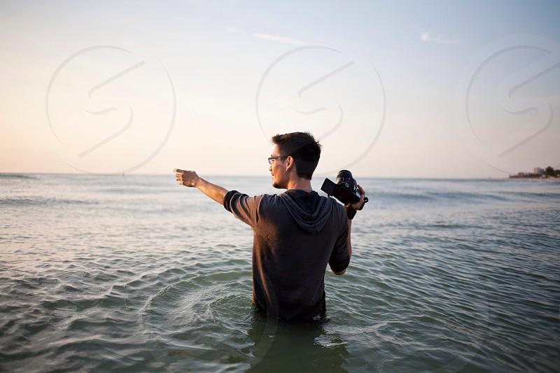 J.W Hendricks during a conceptual shoot on Clearwater Beach FL photo