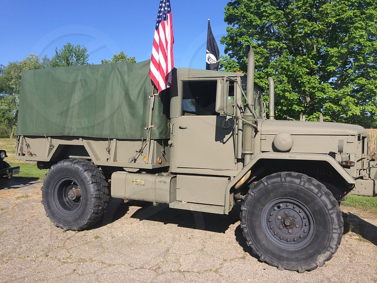 My fathers Bobed Deuce Retired Military Truck.  photo