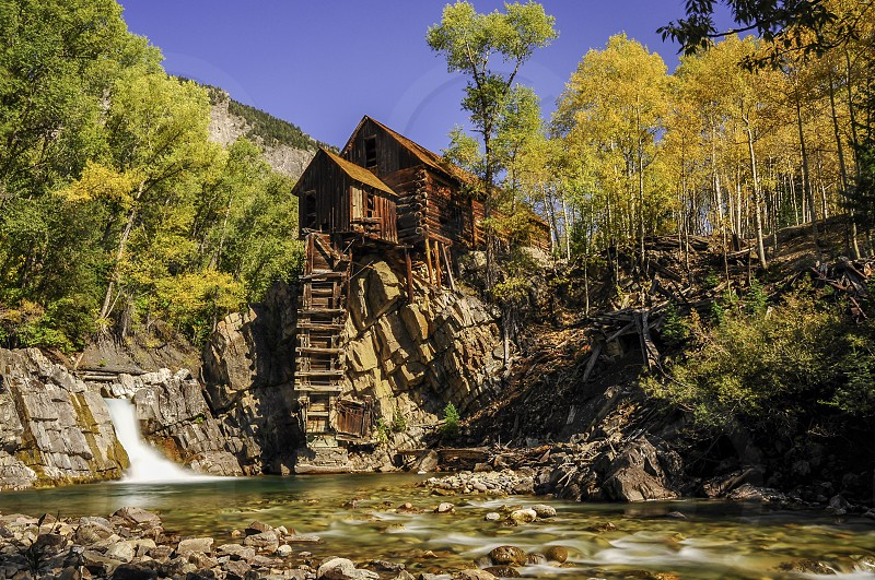 Crystal Mill in fall Colorado photo