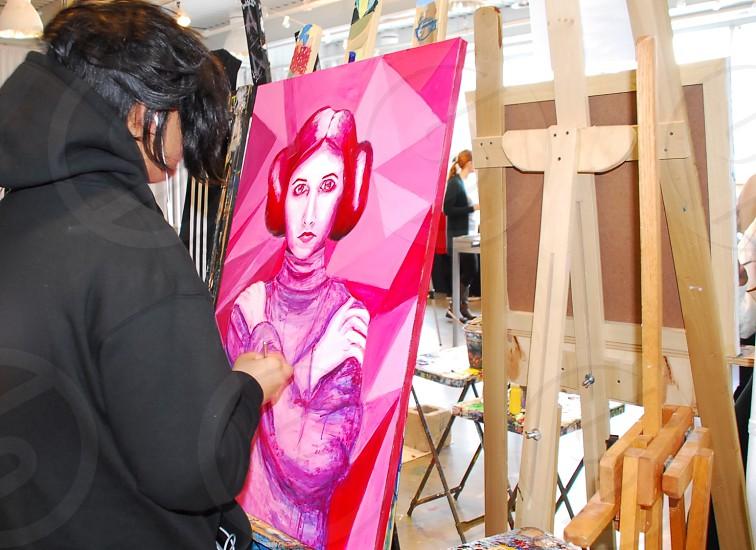 Creative kid teenager painting photo