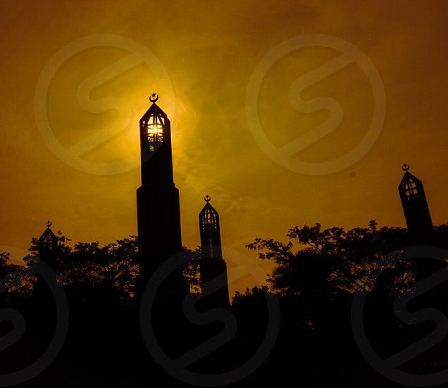 Sunrise at Masjid Kota Iskandar Johor Malaysia photo