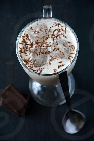 milk chokolate cocktail ice photo