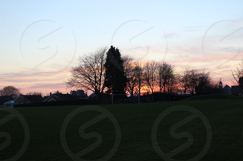 Sunset school pitch photo