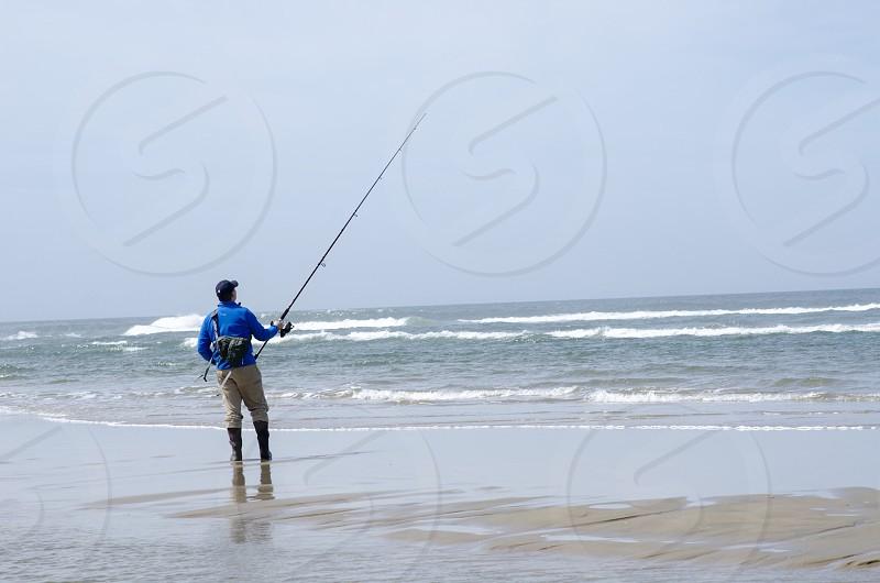 Surf perch fishing  photo