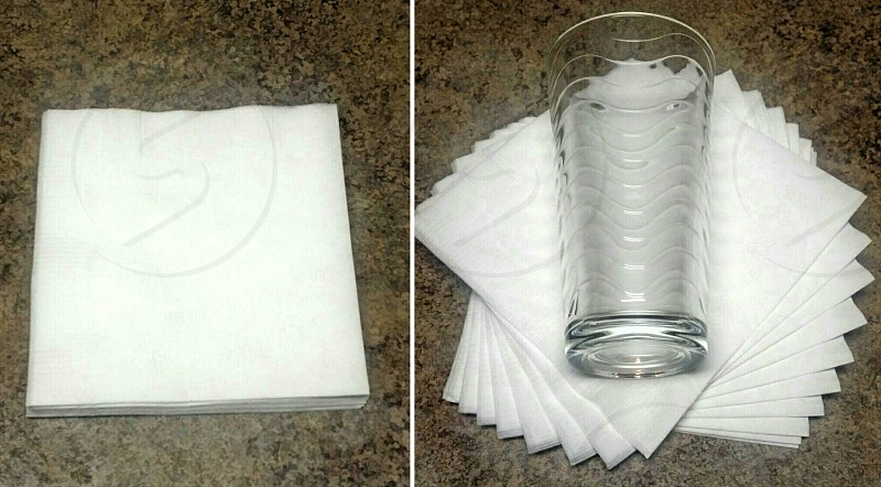 napkins spiral glass photo