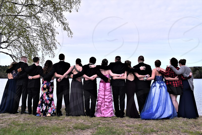 friends on prom night photo
