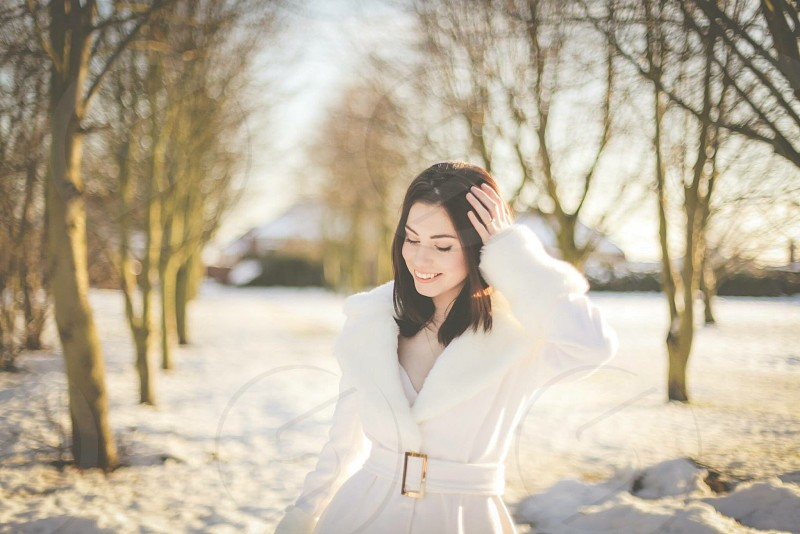 Beth in the snow photo
