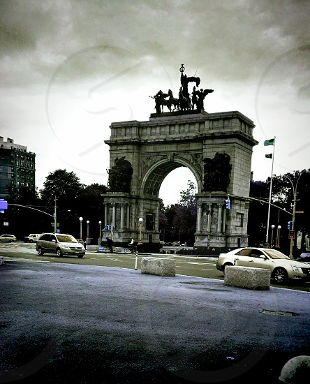 Grand Army Plaza Brooklyn NY. Filters and effects applied. photo