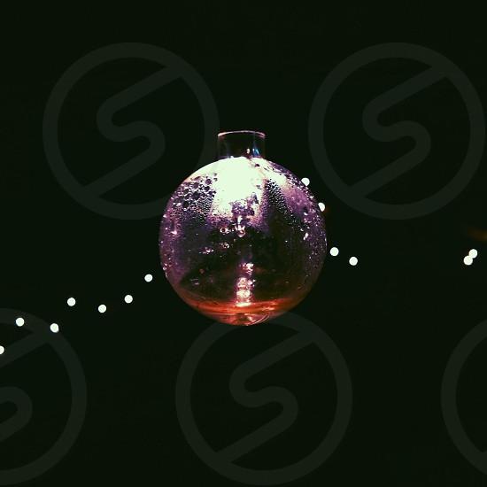 clear glass snow globe photo