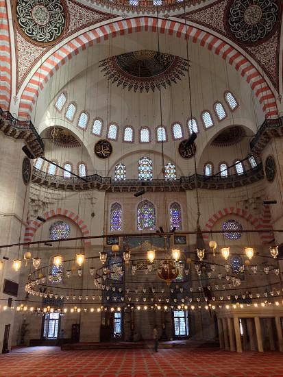 Suleimaniye mosque Istanbul.  photo