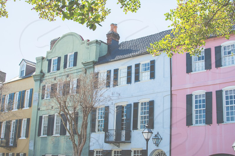 Rainbow row; Charleston; South Carolina  photo