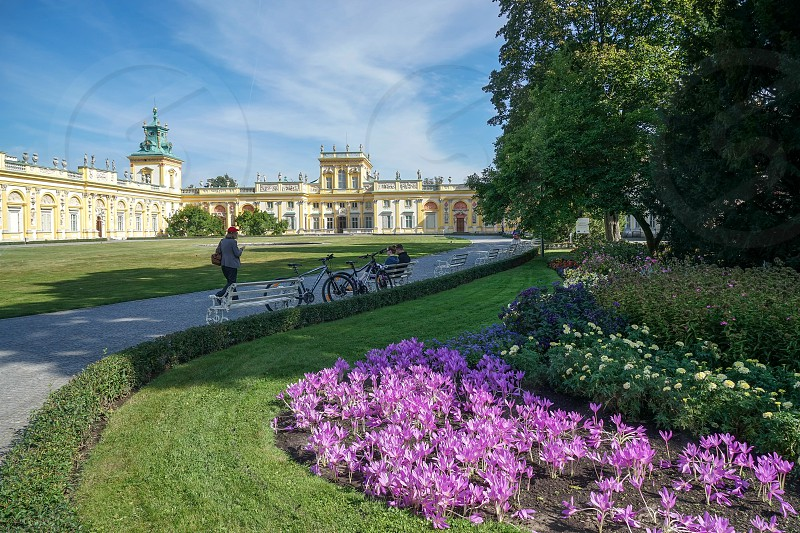 Approach to Wilanow Palace in Warsaw photo