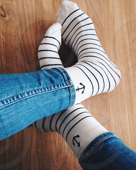 Socks with stripes photo