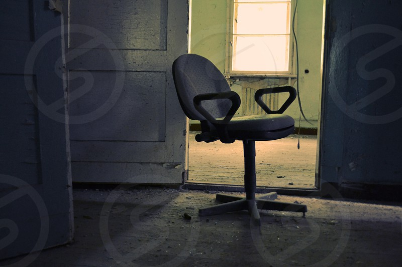 Abandoned chair russian military complex Wünsdorf-Waldstadt Germany photo